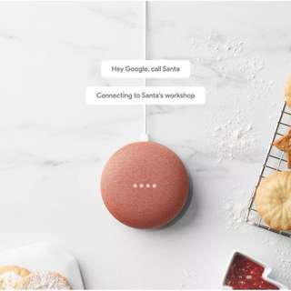 READY STOCK🌟 AUTHENTIC Google Home Mini (Charcoal / Chalk / Coral)