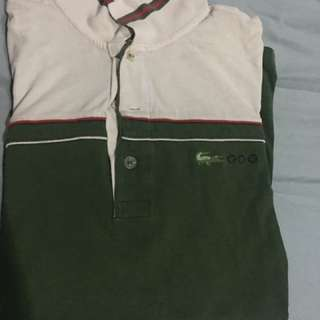 Lacoste Sport Green Polo Shirt Size 3