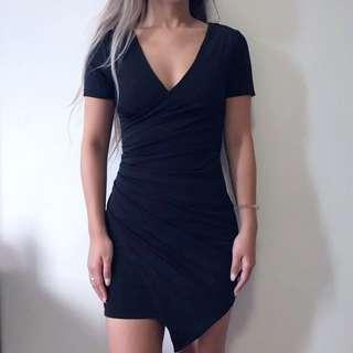 Tigermist Black Wrap Dress