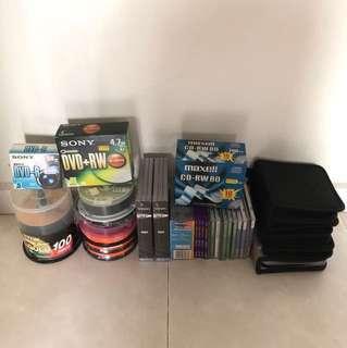 Assorted blank DVD+R/RW DVD-R CD-R/RW Discs