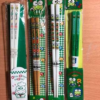 Keroppi 筷子 chopstick 每對$25