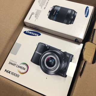 Samsung NX1000 20.3MP Smart Digital Camera - White (Comes with 50-200mm Lens)