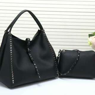 Valentino 2 in 1 Bag Black Color