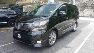 Vellfire z platinum year 09/13 one owner,ori condition,low milelage,trade in accepted,wasap,prices 126888 on the road 018 244 8757