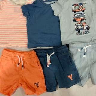 T-shirts and shorts