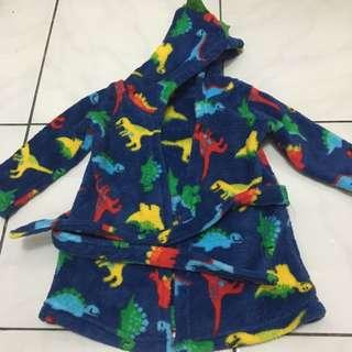 Baju handuk baby gambar dinasaurus