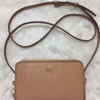 Authentic Tory Burch Double Zip Mini Bag
