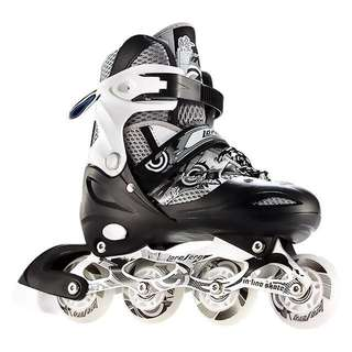 Free Carry bag-LF Black & White In-Line Roller Skate