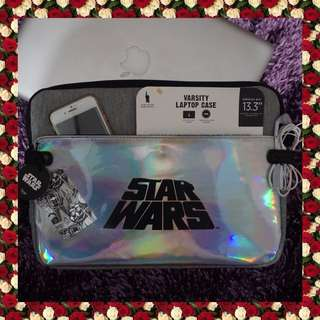 Star Wars Typo Holographic Laptop Sleeve Case