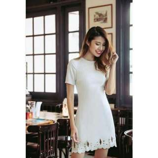Threadtheory SILVER BELLS EMBROIDERY DRESS (LIGHT GREY)