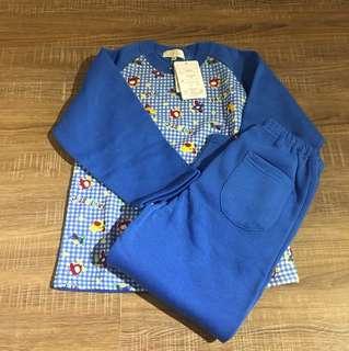 鋪棉睡衣套裝 120公分 全新 (一套80賣場任選三件200)