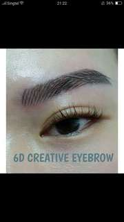 6D Eyebrow tattooing