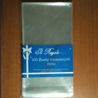 Seal-able transparent plastic pouches