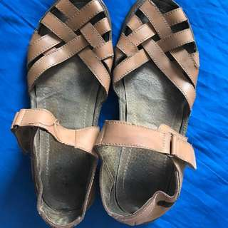 CLN leather strewn sandal