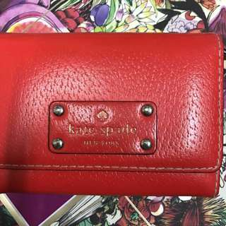 Kate Spade red wallet 99%new