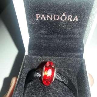 Pandora Murano Charm Red