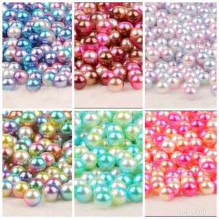 Beads 8mm - around 100 Magic Colour beads per pack for DIY , Clear Slime or makeup box storage