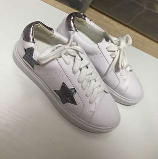 Silver stars sneakers
