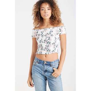 (🚫NOT AVAIL ATM) Cotton On Shirred Off The Shoulder Top