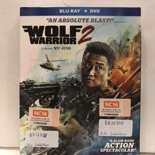 WOLF WARRIOR 2 BLU RAY and DVD