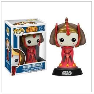 FUNKO POP STAR WARS QUEEN AMIDALA RARE LAST PIECE