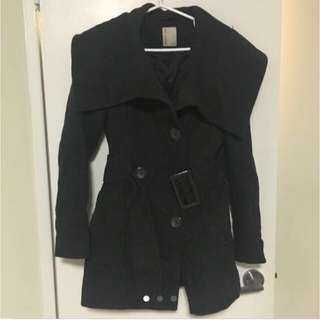 Dark Grey Winter Dress Jacket - XS