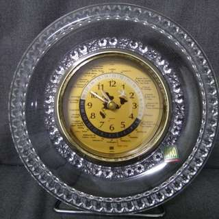 Hoya Crystal World Clock Made in Japan