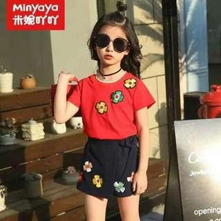 Kids' Shirt and Skirt Set