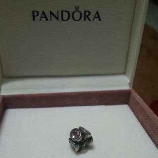 Pandora Charm. Crystal Pink