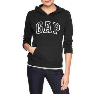 🚚 gap黑色女款刷毛帽t m號