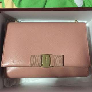 Salvatore Ferragamo miss vara bow mini bag in blush
