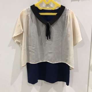 Two color top