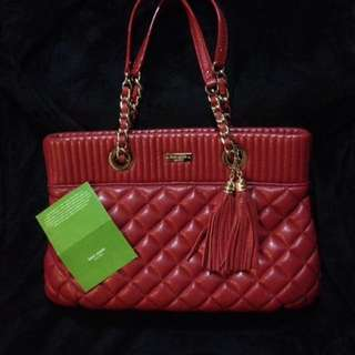 Kate Spade Quilted Red Leather Bag New