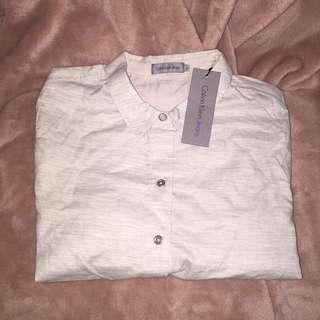 Calvin Klein Women Woven Shirt Size S 女裝棉質恤衫 細碼