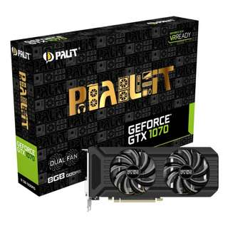 Palit GTX 1070 8GB GDDR5 Dual Fan