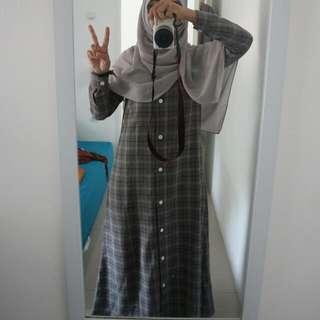 Long Dress Grey Hijup