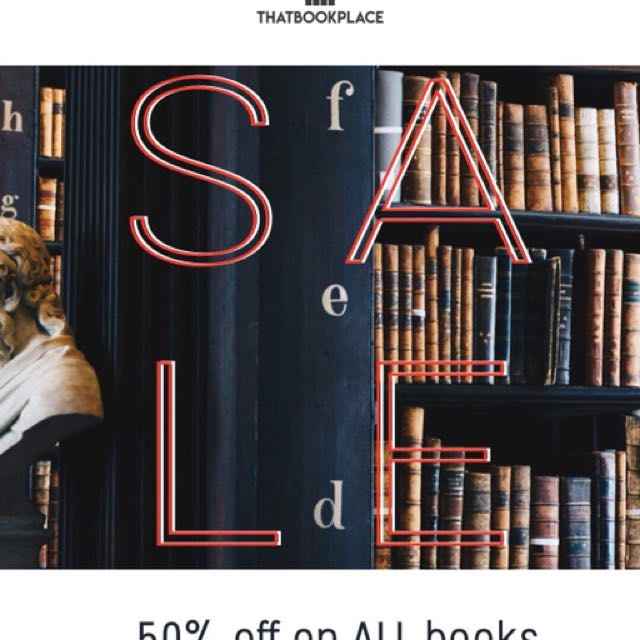 50% OFF ON ALL BOOKS SALE