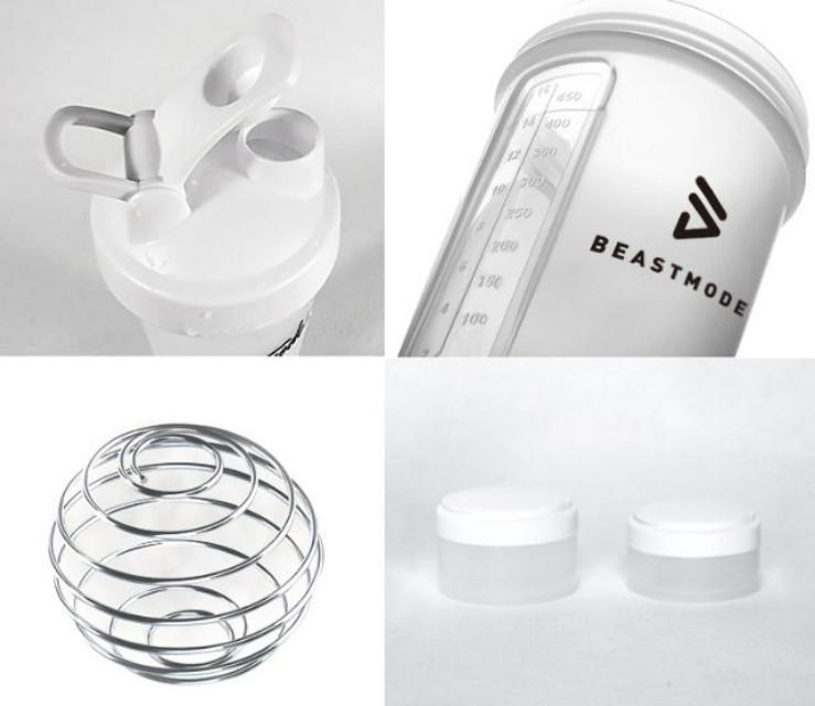 顏值高三層有刻度的重訓健身運動乳清蛋白搖搖杯磨砂透白