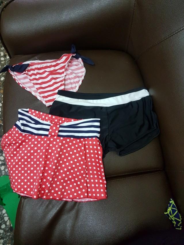 全新泳褲三件組