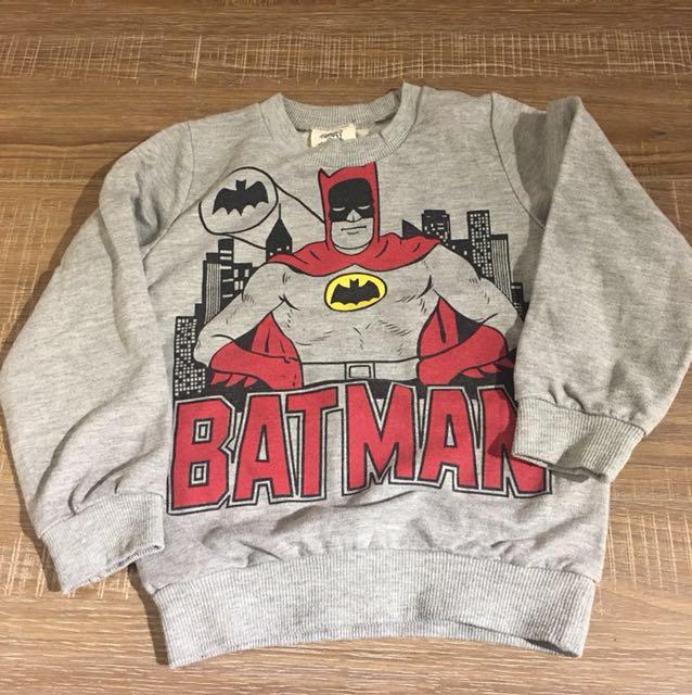 蝙蝠俠 bat man長袖T 100cm 三歲(80一件 三件特價200)