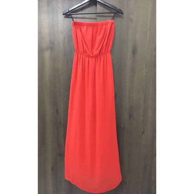 💯 F21 Chiffon Maxi Dress