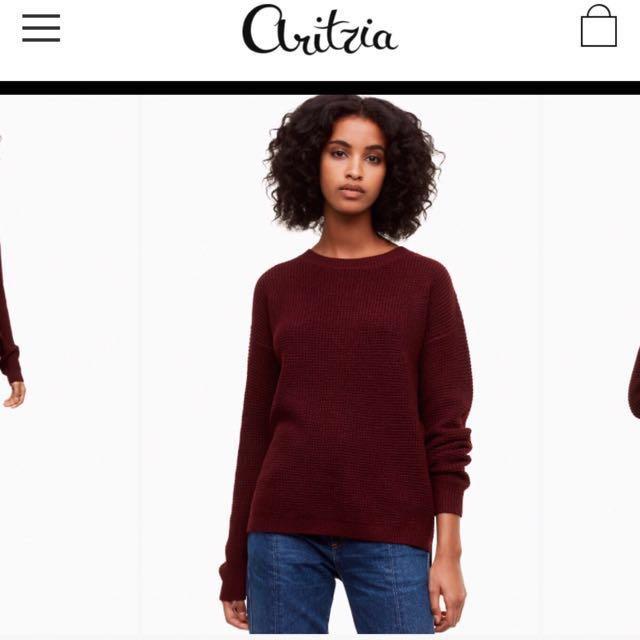 Aritzia Wilfred Free Plum Isabelli Sweater Small