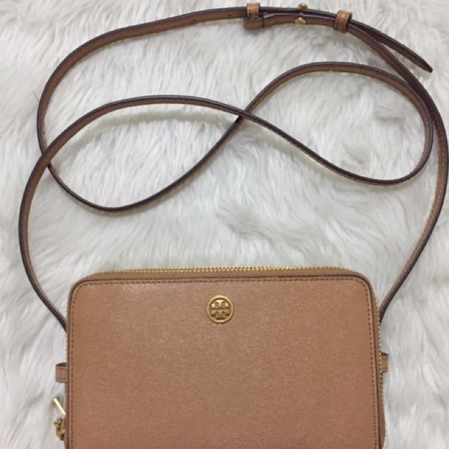 Authentic Tory Burch Double Zip Mini Bag