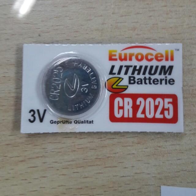 Baterai Lithium CR 2025 Eurocell