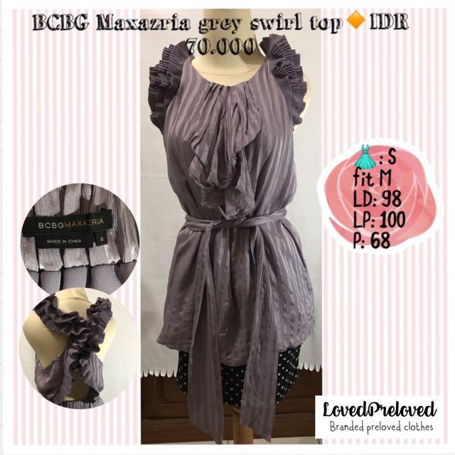 BCBG maxazria grey swirld top