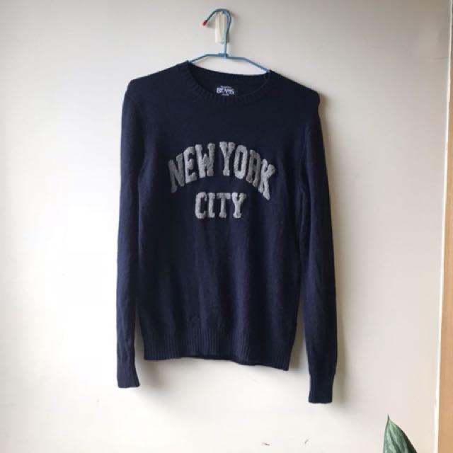Beams藏藍色毛衣