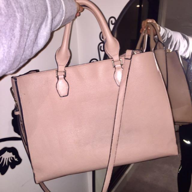 Beige big bag (two way)