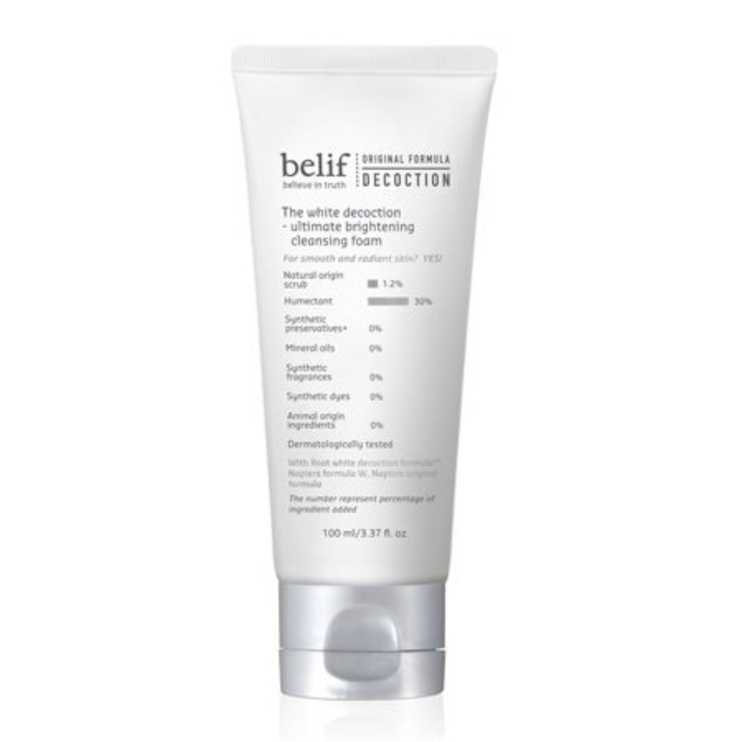 belif The White Decoction – Ultimate Brightening Cleansing Foam