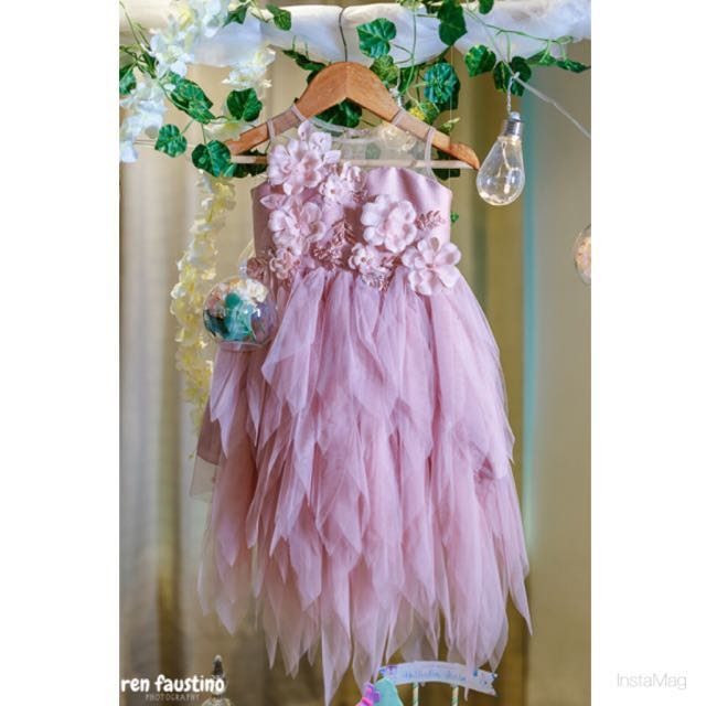 Birthday Gown for Rent (complete set) with shoes, head dress and fairy wings) if gown only, rental fee is 1500php