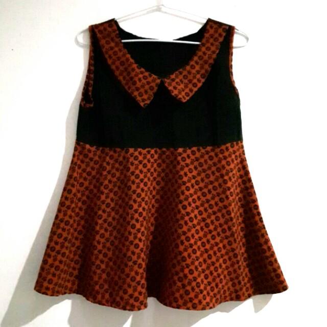 Black orange top